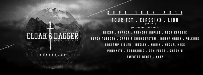 SAT SEP 19 2PM | CLOAK & DAGGER MUSIC FESTIVAL LINEUP | 4 STAGES AT CITY HALL + CLUB VINYL NEAR 11TH AND BROADWAY | DENVER CO