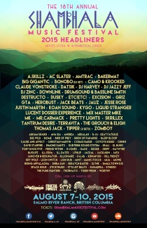 Shambhala Music Festival 2015 | Salmo River Ranch | British Columbia Canada | August 7-10