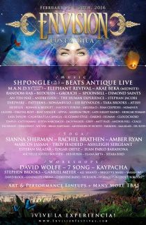 ENVISION FESTIVAL 2016 LINEUP POSTER