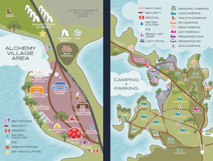SYMBIOSIS 2015 - ALCHEMY VILLAGE AREA CAMPING PARKING MAP