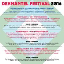 DEKMANTEL LINEUP POSTER 2016