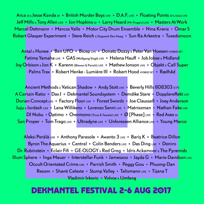 dekmantel-festival-2017-lineup